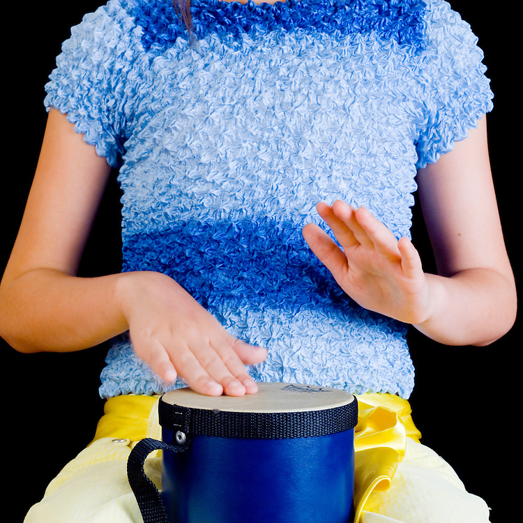 Sound energy, girl playing drum