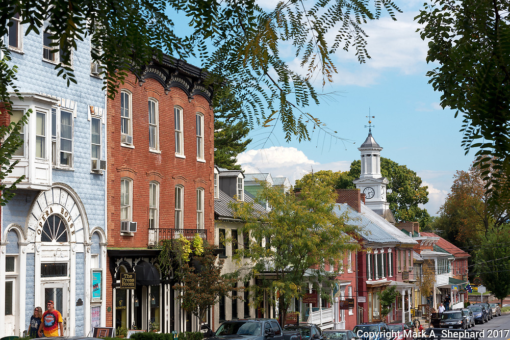 German Street in Shepherdstown, W.Va., is the vibrant main hub of West Virginia's oldest town. Photo by Mark A. Shephard