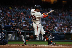 SAN FRANCISCO, CA - APRIL 08: Yangervis Solarte #26 of the San Francisco Giants at bat against the San Diego Padres during the second inning at Oracle Park on April 8, 2019 in San Francisco, California. The San Diego Padres defeated the San Francisco Giants 6-5. (Photo by Jason O. Watson/Getty Images) *** Local Caption *** Yangervis Solarte