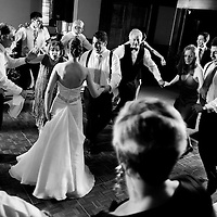 Josh and Jillian dance with their families at their Nita Lake Lodge wedding in Whistler, British Columbia.