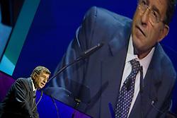 """Roma 21/01/2009 - IV Conferenza nazionale sul Digitale Terrestre dal titolo """"Niente è come prima"""". NELLA FOTO: Corrado Calabrò, Presidente AGCOM."""