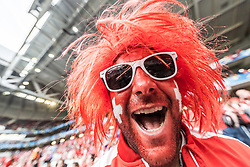 19.06.2016, Stade Pierre Mauroy, Lille, FRA, UEFA Euro, Frankreich, Schweiz vs Frankreich, Gruppe A, im Bild Schweiz Fan der Nati // Switzerland Supporter during Group A match between Switzerland and France of the UEFA EURO 2016 France at the Stade Pierre Mauroy in Lille, France on 2016/06/19. EXPA Pictures © 2016, PhotoCredit: EXPA/ JFK