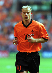 Dennis Bergkamp in action for Holland during Euro 2000. Holland v Italy, Semi Final, 29th June 2000.