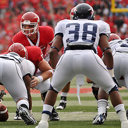 Sep 12, 2009; Piscataway, NJ, USA; Rutgers quarterback Tom Savage (7) lines up under center during the first half of Rutgers' 45-7 victory over Howard in NCAA College Football at Rutgers Stadium.