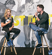 UTRECHT, THE NETHERLANDS. 2017, SEPTEMBER 7. Dafne Schippers and Domien Verschuuren at the Nike store opening at Hoog Catherijne.