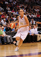 Aug 26, 2010; Phoenix, AZ, USA; Phoenix Mercury forward Penny Taylor (13) drives the ball during the first half against the San Antonio Silver Stars in game one of the western conference semi-finals in the 2010 WNBA Playoffs at US Airways Center.  The Mercury defeated the Silver Stars 106-93.  Mandatory Credit: Jennifer Stewart-US PRESSWIRE