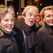 NLD/Amsterdam/20160311 - Inloop Boekenbal 2016, Midas Dekker en links zijn partner