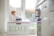 Edie Wrightman, 2 and 1/2 , at home on 31 Groombridge Road, Hackney, London CREDIT: Vanessa Berberian for The Wall Street Journal<br /> HACKNEY-Lana Wrightman