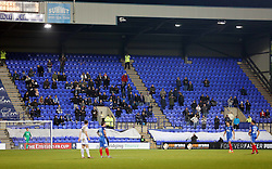 Peterborough United supporters at Tranmere Rovers - Mandatory by-line: Joe Dent/JMP - 15/11/2017 - FOOTBALL - Prenton Park - Birkenhead, England - Tranmere Rovers v Peterborough United - Emirates FA Cup first round replay