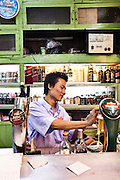 Bars on 19th Street, Chinatown, Yangon, Myanmar.