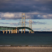 &quot;Clouds over Mackinac Bridge&quot;-2<br />