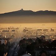 Cappa di smog che per tutto il mese di dicembre 2015 ha avvolto la città di Torino.