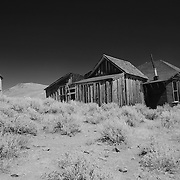 Ghost Town Homestead - Bodie, CA - Black & White