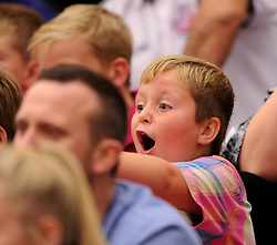 Spectator at the BBL match between Bristol Flyers and Newcastle Eagles on 10 October 2015 in Bristol,  - Photo mandatory by-line: Paul Knight/JMP - Mobile: 07966 386802 - 10/10/2015 - BASKETBALL - SGS Wise Arena - Bristol, England - Bristol Flyers v Newcastle Eagles - British Basketball League
