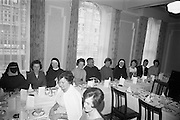 20/08/1966<br /> 08/20/1966<br /> 20 August 1966<br /> Irish Zambian Missionaries reunion at Wynn's Hotel Dublin. Group of Irish teachers, nurses, priests and sisters all of whom were connected with the Capuchin and Holy Cross Mission in Zambia and Rhodesia met at an informal luncheon.