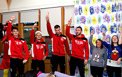 Richard O'Donnell, Jamie Paterson, Aden Flint and Max O'Leary of Bristol City join a choir to sing Christmas Carols during Bristol City's visit to the Children's Hospice South West at Charlton Farm - Mandatory by-line: Robbie Stephenson/JMP - 21/12/2016 - FOOTBALL - Children's Hospice South West - Bristol , England - Bristol City Children's Hospice Visit