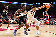 FAYETTEVILLE, AR - FEBRUARY 5:  Daniel Gafford #10 of the Arkansas Razorbacks grabs a pass in front of Clevon Brown #15 of the Vanderbilt Commodores at Bud Walton Arena on February 5, 2019 in Fayetteville, Arkansas. The Razorbacks defeated the Commodores 69-66.  (Photo by Wesley Hitt/Getty Images) *** Local Caption *** Daniel Gafford; Clevon Brown