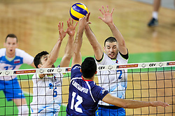 Mojtaba Mirzajanpour of Iran vs Alen Pajenk and Mitja Gasparini of Slovenia at exhibition game between Slovenia and Iran, on May 15, 2017 in SRC Stozice, Ljubljana, Slovenia. Photo by Matic Klansek Velej / Sportida