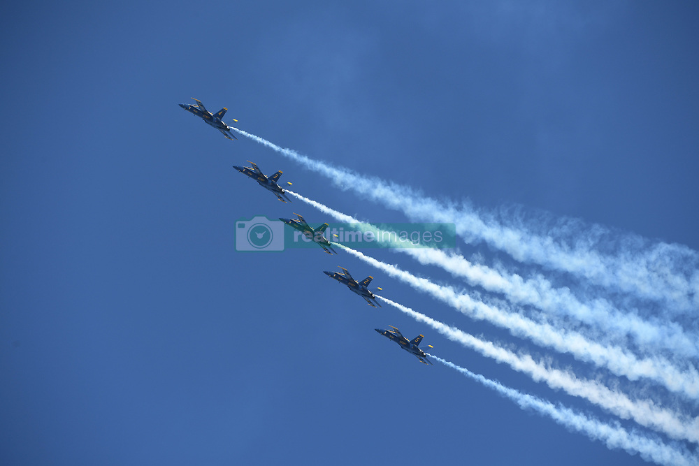 May 4, 2019 - Fort Lauderdale, Florida, United States Of America - FORT LAUDERDALE, FL - MAY 04: U.S. Navy Blue Angels Team  performs in the Ford Lauderdale Air Show on May 4, 2019 in Fort Lauderdale, Florida...People:  U.S. Navy Blue Angels Team..Transmission Ref:  FLXX..Must call if interested.Michael Storms.Storms Media Group Inc..305-632-3400 - Cell.305-513-5783 - Fax.MikeStorm@aol.com.www.StormsMediaGroup.com (Credit Image: © SMG via ZUMA Wire)
