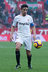 December 16, 2018 - Seville, Andalucia, Spain - Jesus Navas of Sevilla FC during the LaLiga match between Sevilla FC and Girona at Estadio Ramón Sánchez Pizjuán on December 16, 2018 in Seville, Spain  (Credit Image: © Javier MontañO/Pacific Press via ZUMA Wire)