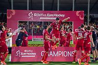 ANTWERPEN -Loïck Luypaert (Belgie).  Belgie wint de titel    na de  finale mannen  Belgie-Spanje (5-0)  bij het Europees kampioenschap hockey. Belgie kampioen.  COPYRIGHT KOEN SUYK