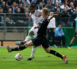 15.09.2011, UPC Arena, Graz, AUT, UEFA Europa League , Sturm Graz vs Lokomotive Moskau, im Bild Dominic Puercher (SK Sturm Graz, #4, Defense) und Marques Maicon (Lok Moskau, #90) // during UEFA Europa League football game between Sturm Graz and Lokomotive Moskau at UPC Arena in Graz, Austria on 15/09/2011. EXPA Pictures © 2011, PhotoCredit: EXPA/ E. Scheriau