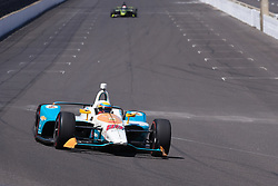 April 30, 2018 - Indianapolis, IN, U.S. - INDIANAPOLIS, IN - APRIL 30: Gabby Chaves (88) entering Turn 1 during an Open Test on April 30, 2018, at the Indianapolis Motor Speedway in Indianapolis, IN. (Photo by James Black/Icon Sportswire) (Credit Image: © James Black/Icon SMI via ZUMA Press)