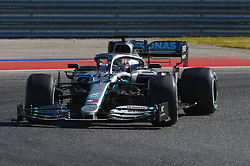 November 3, 2019, Austin, TX, USA: AUSTIN, TX - NOVEMBER 03: Mercedes AMG Petronas Motorsport driver Lewis Hamilton (44) of Great Britain enters turn 11 during the F1 - U.S. Grand Prix race at Circuit of The Americas on November 3, 2019 in Austin, Texas. (Photo by Ken Murray/Icon Sportswire) (Credit Image: © Ken Murray/Icon SMI via ZUMA Press)