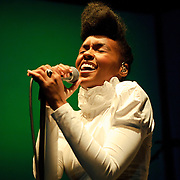WASHINGTON, D.C. - SEPTEMBER 13th, 2010: Janelle Monae opens for Of Montreal at the 9:30 Club. She is currently touring behind her debut album, The ArchAndroid.  (Photo by Kyle Gustafson/For The Washington Post)