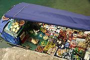 Vietnam, Halong Bay, Bo Hon Island Floating market boat