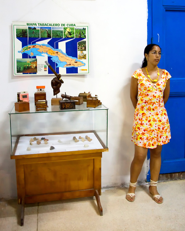 Tobacco exhibit at the museum in  Holguin, Cuba.