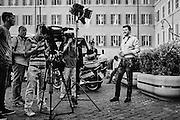 Matteo Salvini, segretario della Lega Nord, in piazza Montecitorio. Roma 01 Luglio 2015. Christian Mantuano / OneShot <br /> <br /> Matteo Salvini, leader of the Lega Nord political party, at piazza Montecitorio. Rome, July 01, 2015. Christian Mantuano / OneShot