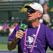 March 7, 2015, Indian Wells, California:<br /> Tom Fey speaks during Kids Day at the Indian Wells Tennis Garden in Indian Wells, California Saturday, March 7, 2015.<br /> (Photo by Billie Weiss/BNP Paribas Open)
