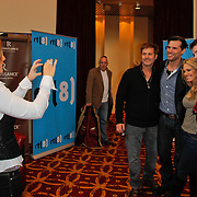 NLD/Amsterdam/20120217 - Fotoshoot As The World Turns Farewell Event , Martha Byrne maakt foto van Jon Hensley, Austin Peck, Terri Conn en Trent Dawson