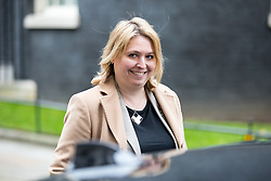 © Licensed to London News Pictures. 29/01/2018. London, UK. Secretary of State for Northern Ireland Karen Bradley leaving Downing Street after attending a Brexit meeting this morning. Photo credit : Tom Nicholson/LNP
