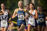 Meaghan Marton of the Windsor Lancers runs at the 2014 Western International Cross country meet in London Ontario, Saturday,  September 20, 2014.<br /> Mundo Sport Images/ Geoff Robins