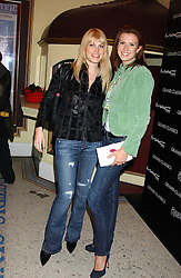 Left to right, MEREDITH OSTROM and HENRIETTA DUPS at a special Grand Classic screening of Place Vendome to celebrate Catherine Deneuve as MAC Beauty Icon 3 held at The Elecric Cinema, Portobello Road, London W11 on 30th January 2006.<br /><br />NON EXCLUSIVE - WORLD RIGHTS