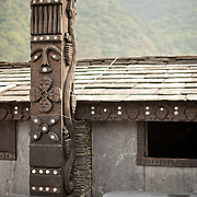 Traditional slate cottage  in Duona Village, Maolin Township, Kaohsiung County, Taiwan