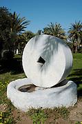 ancient grinding stones from a flourmill, Eretz Israel Museum AKA Haartz Museum, Tel Aviv, Israel