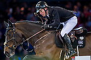 HONG KONG - FEBRUARY 20:  Gerco Schroder of Netherlands rides Glock«s Zaranza during the Airbus Trophy as part of the 2016 Longines Masters of Hong Kong on February 20, 2016 in Hong Kong, Hong Kong.  (Photo by Aitor Alcalde Colomer/Getty Images)