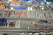 Nederland, Zuid-Holland, Rotterdam, 18-02-2015. Waalhaven Emplacement, bedrijventerrein Waalhaven en Vondelingenweg. <br /> Port of Rotterdam with railway yard, harbours and container terminals.<br /> luchtfoto (toeslag op standard tarieven);<br /> aerial photo (additional fee required);<br /> copyright foto/photo Siebe Swart