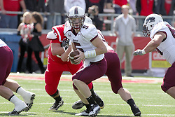 02 October 2010: Chris Dieker during an NCAA football game where the Southern Illinois Salukis beat the Illinois State Redbirds 3817 at Hancock Stadium in Normal Illinois.