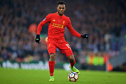 LIVERPOOL, ENGLAND - Saturday, January 7, 2017: Liverpool's Daniel Sturridge in action against Plymouth Argyle during the FA Cup 3rd Round match at Anfield. (Pic by David Rawcliffe/Propaganda)