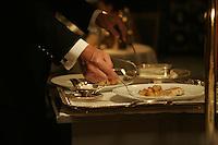service at the three star restaurant Pierre Gagnaire in Paris
