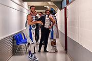 Gianmarco Pozzecco, Jaime Smith<br /> AX Armani Exchange Olimpia Milano - Banco di Sardegna Dinamo Sassari<br /> LBA Serie A Postemobile 2018-2019 Playoff Semifinale Gara 2<br /> Milano, 31/05/2019<br /> Foto L.Canu / Ciamillo-Castoria