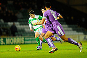 Yeovil Town's Liam Walsh charges forward during the Sky Bet League 2 match between Yeovil Town and Plymouth Argyle at Huish Park, Yeovil, England on 23 February 2016. Photo by Graham Hunt.
