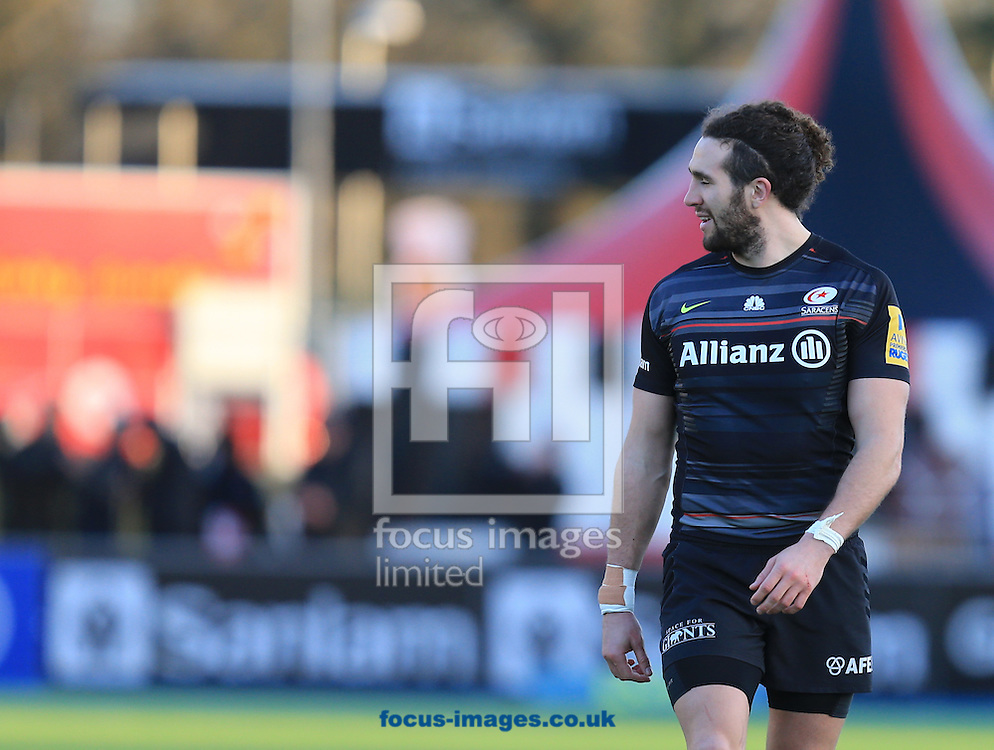Catalin Fercu of saracens during the LV Cup match at Allianz Park, London<br /> Picture by Michael Whitefoot/Focus Images Ltd 07969 898192<br /> 07/02/2015