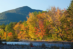 The Swift River in New Hampshire's White Mountains.  Albany, New Hampshire. Fall.
