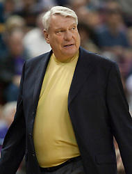 November 8, 2009; Sacramento, CA, USA;  Golden State Warriors coach Don Nelson during the first quarter against the Sacramento Kings at the ARCO Arena. The Kings defeated the Warriors 120-107.