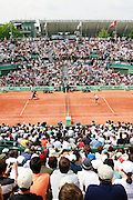 Roland Garros. Paris, France. June 4th 2006..Gael Monfils (left) against James Blake (right).